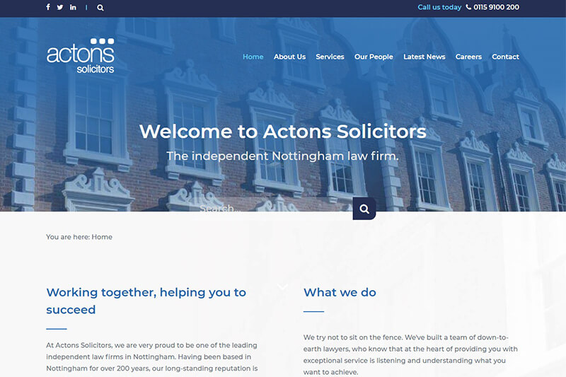 Actons Solicitors Nottinghamshire