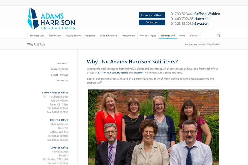 Adams Harrison Solicitors Essex
