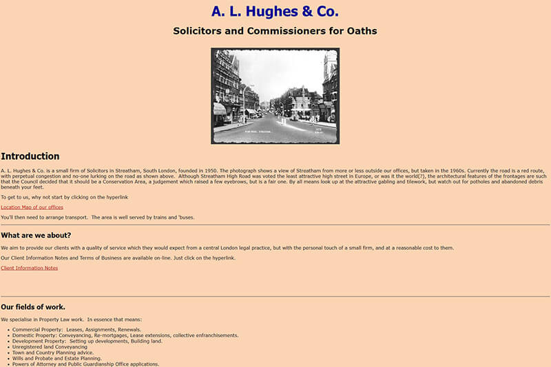 AL Hughes &Co London