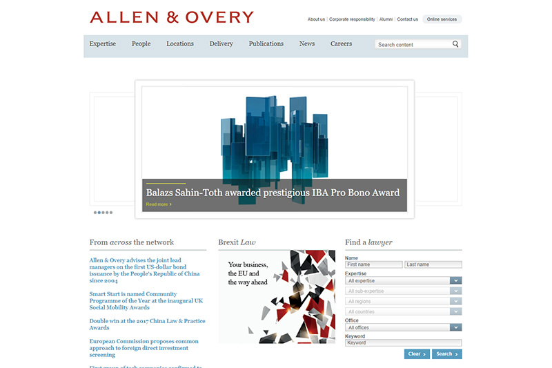 Allen & Overy magic circle law firm