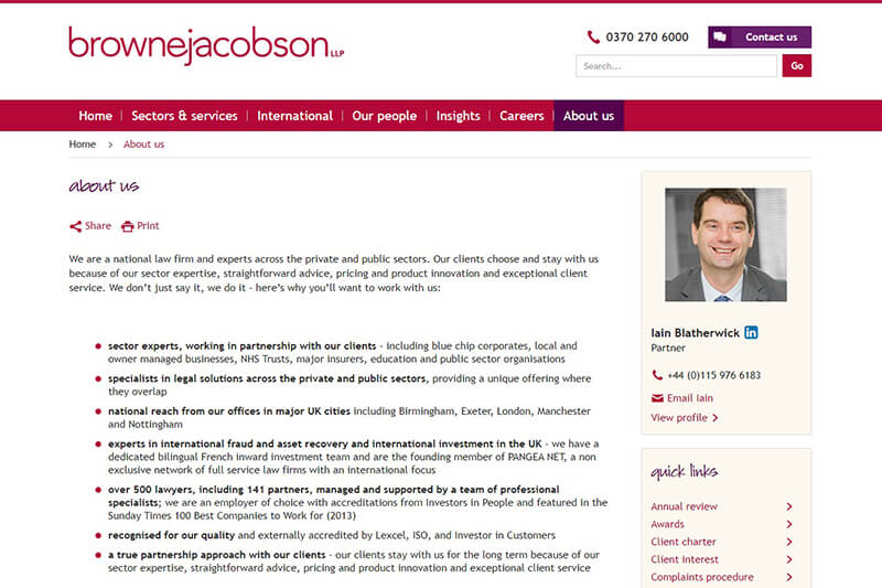 Browne Jacobson Nottinghamshire solicitors
