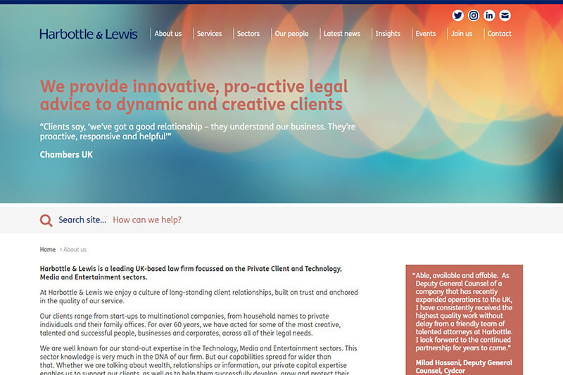 Harbottle & Lewis Solicitors London