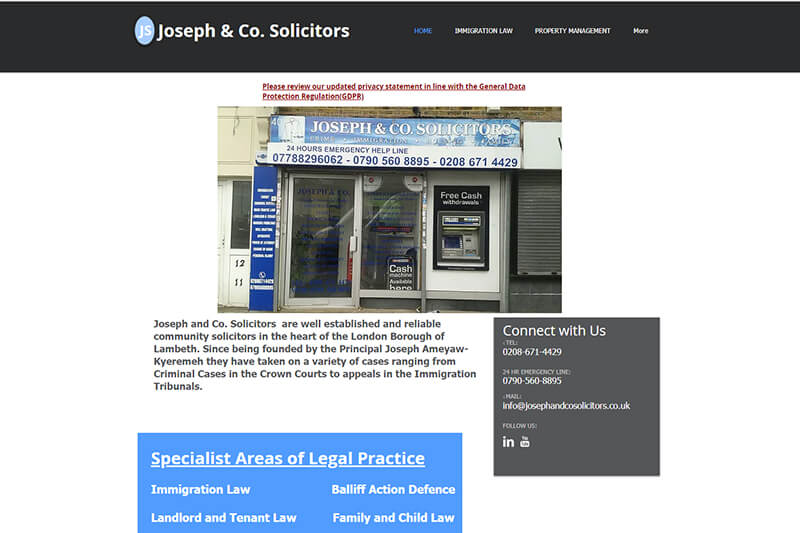 Joseph & Co Solicitors London