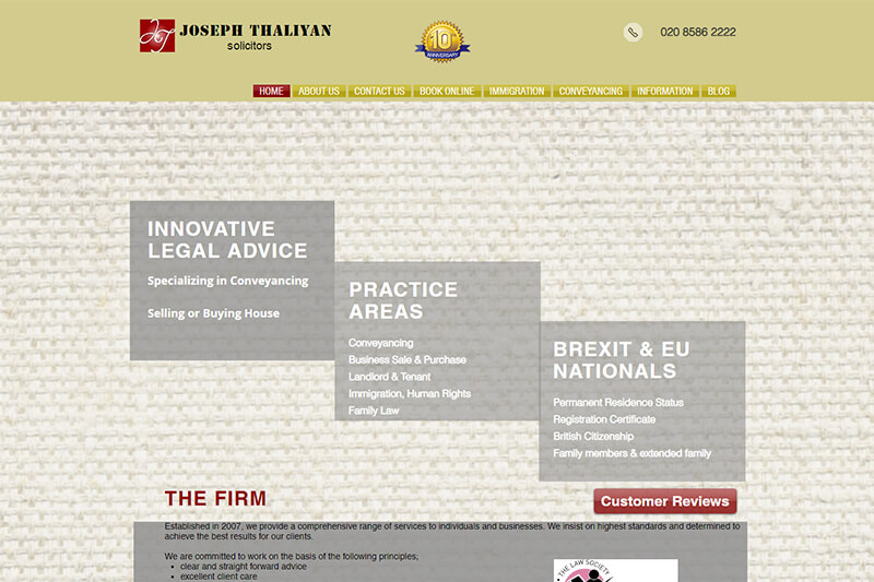 Joseph Thaliyan Solicitors London