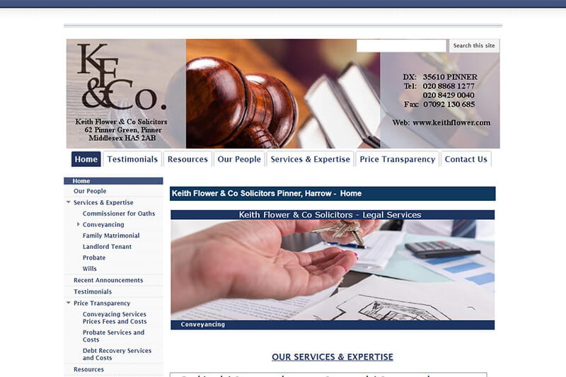 Keith Flower & Co Solicitors Middlesex