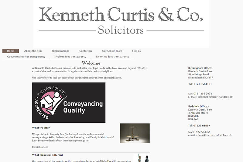 Kenneth Curtis & Co Solicitors Birmingham