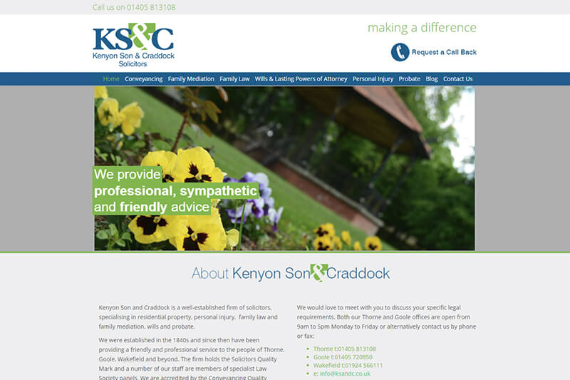 Kenyon Son & Craddock Solicitors South Yorkshire
