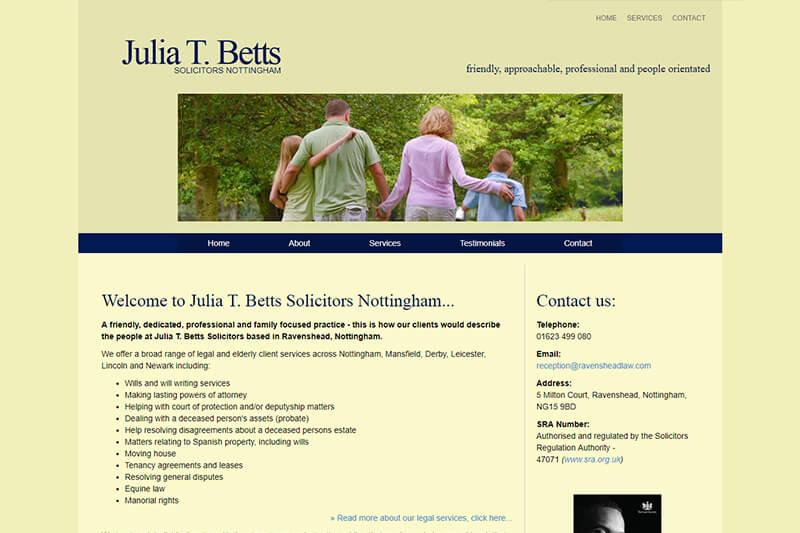 Julia T Betts Solicitors Nottinghamshire