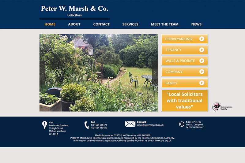 Peter W Marsh & Co Melton Mowbray Leicestershire