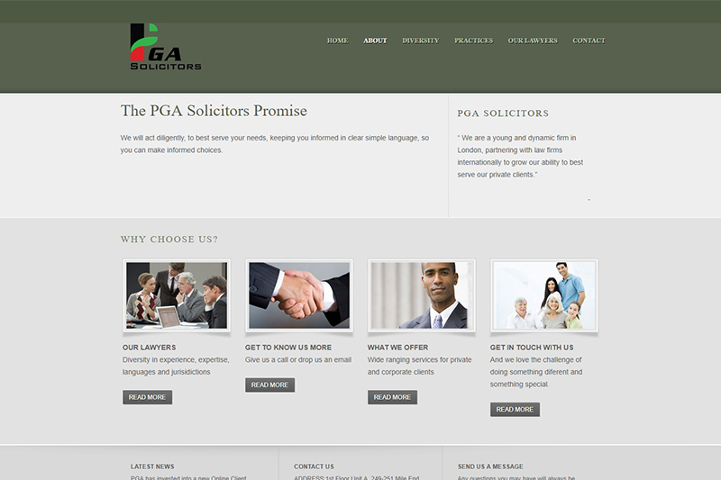 PGA Solicitors in London