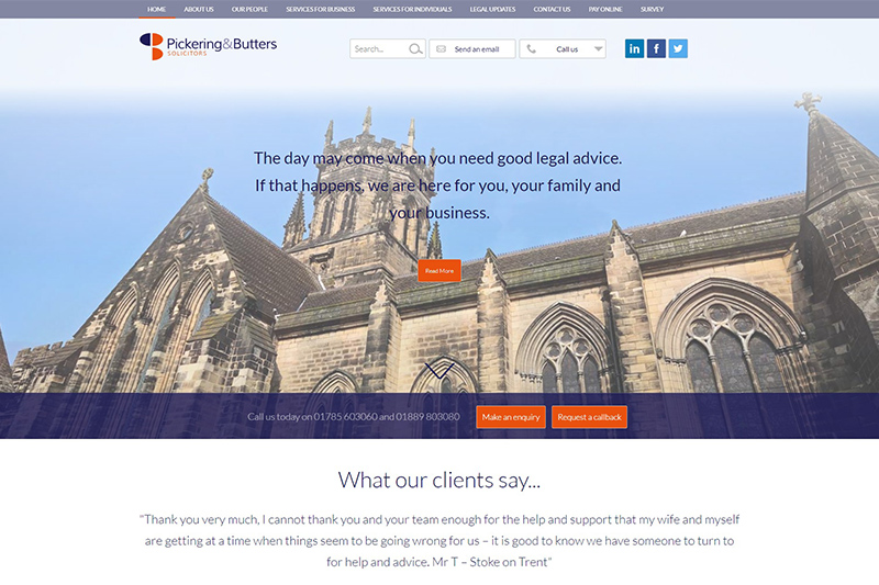 Pickering & Butters Solicitors in Staffordshire