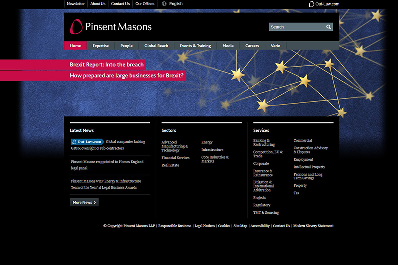 Pinsent Masons Solicitors in London
