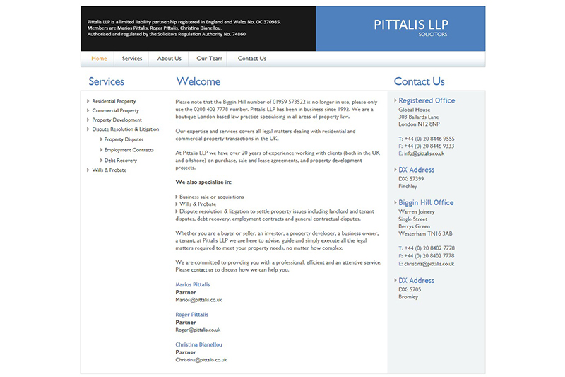 Pittalis & Co Solicitors in London