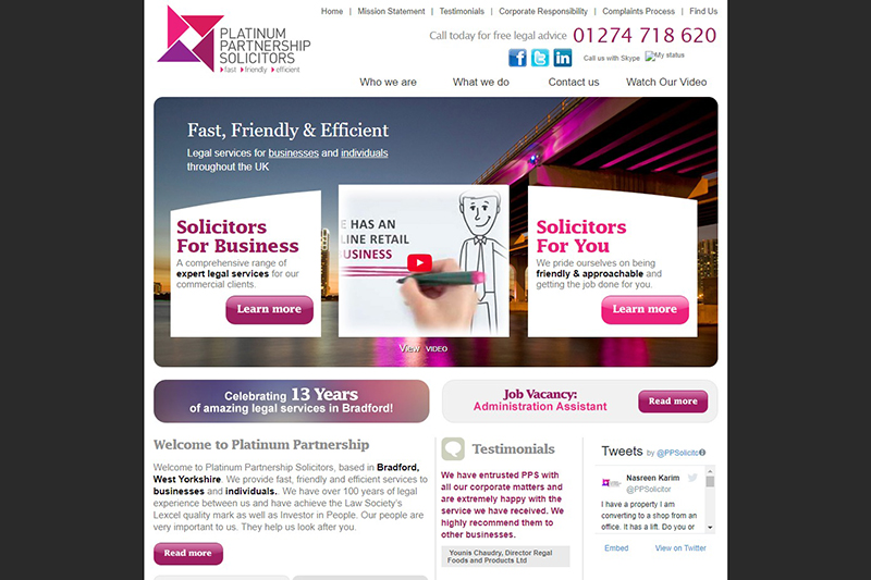 Platinum Partnership Solicitors in West Yorkshire