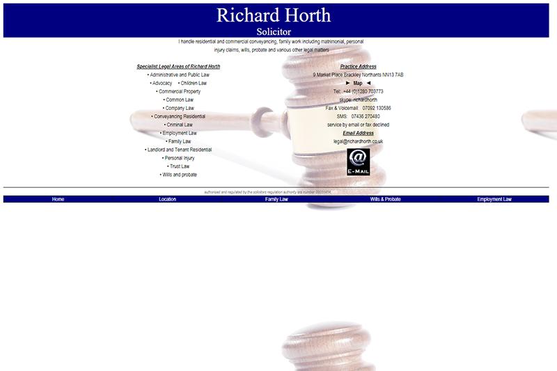RA Horth Solicitor Northamptonshire