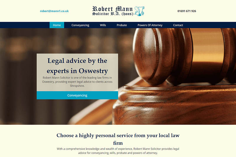 Robert Mann Oswestry Shropshire - Law and Legal