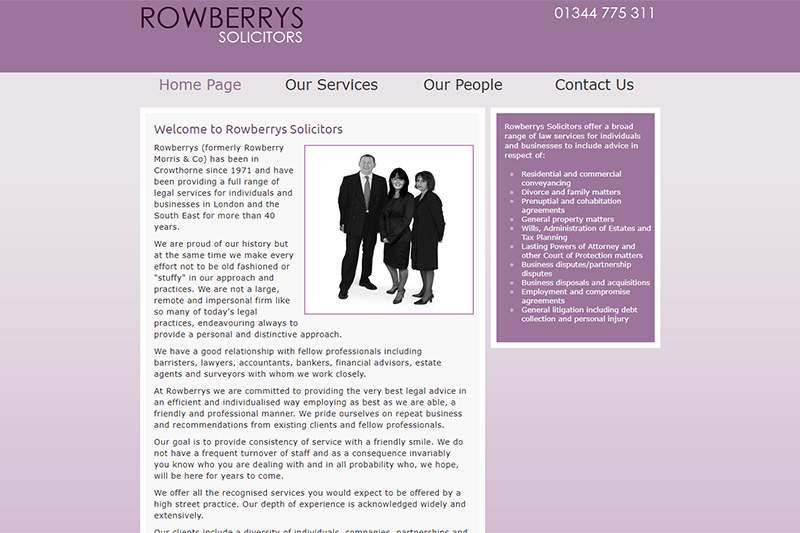 Rowberrys Crowthorne Solicitors in Berkshire