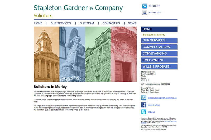 Stapleton Gardner & Co Solicitors in West Yorkshire