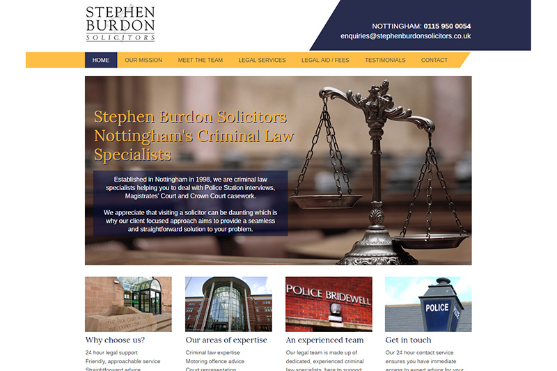 Stephen Burdon Solicitors in Nottinghamshire