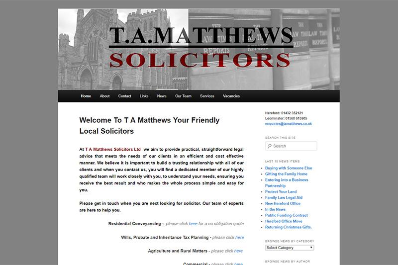 TA Matthews Solicitors Herefordshire