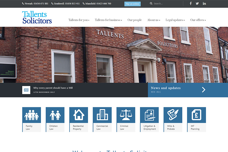 Tallents Solicitors Nottinghamshire
