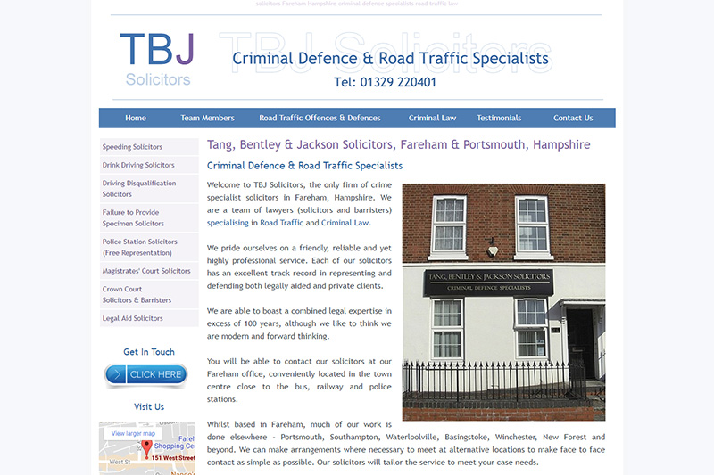 Tang Bentley And Jackson Solicitors Hampshire