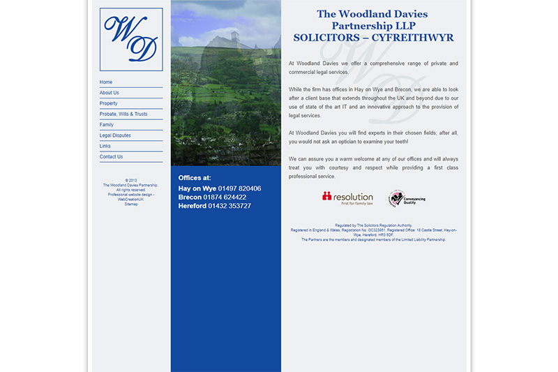 The Woodland Davies Partnership Solicitors Herefordshire