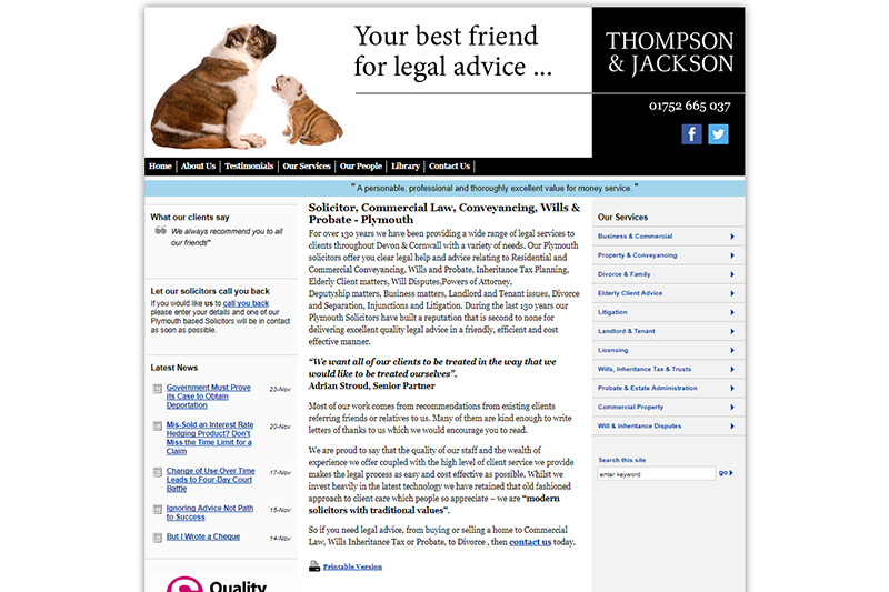 Thompson & Jackson Solicitors in Plymouth Devon