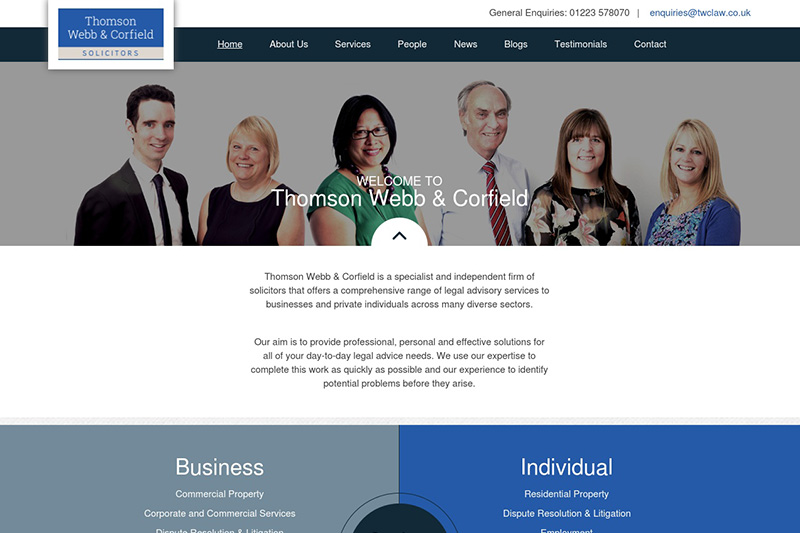 Thomson Webb & Corfield Solicitors Cambridgeshire