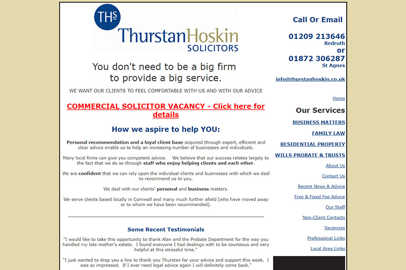 Thurstan Hoskin Solicitors Cornwall