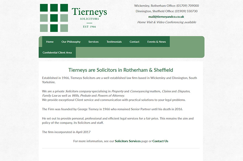 Tierney & Co Solicitors in Sheffield