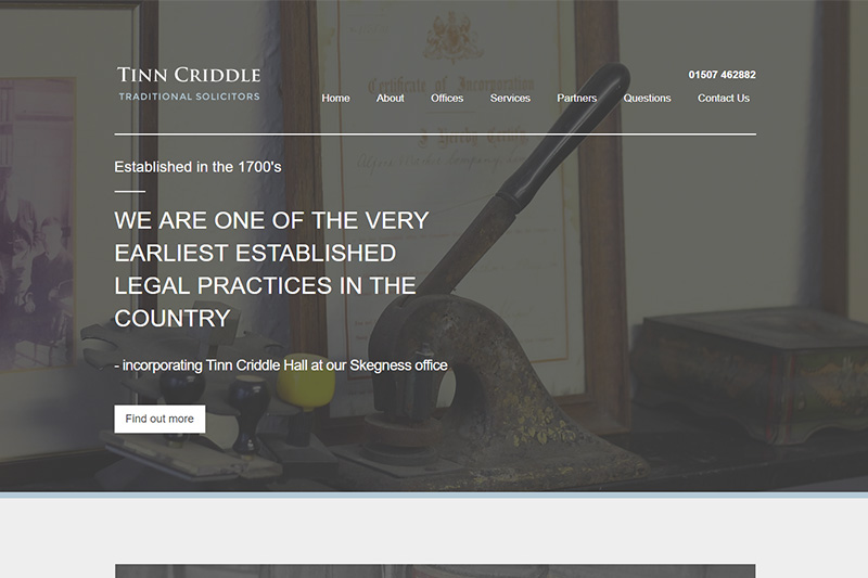 Tinn Criddle Traditional Solicitors Lincolnshire