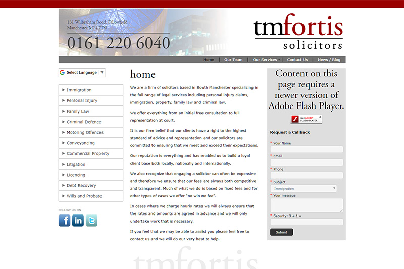 TM Fortis Solicitors in Manchester