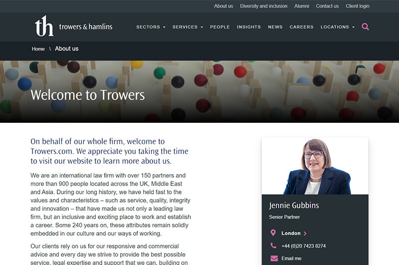 Trowers & Hamlins Solicitors London