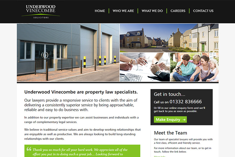 Underwood Vinecombe Solicitors Derbyshire