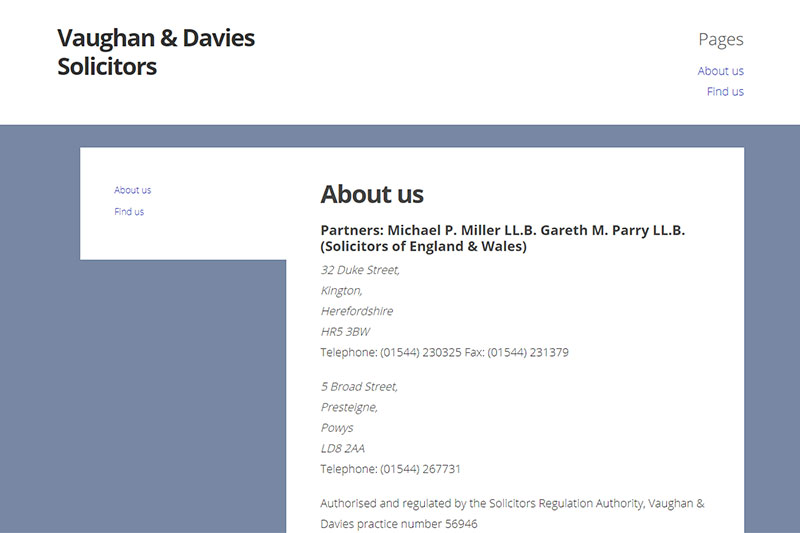 Vaughan & Davies Solicitors Herefordshire