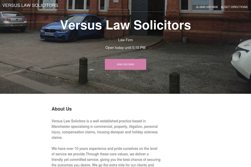 Versus Law Solicitors Manchester