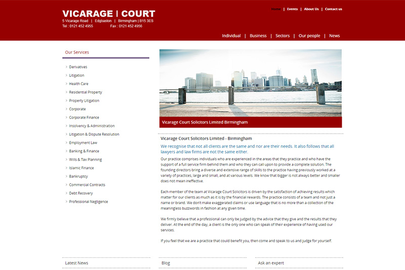 Vicarage Court Solicitors Birmingham