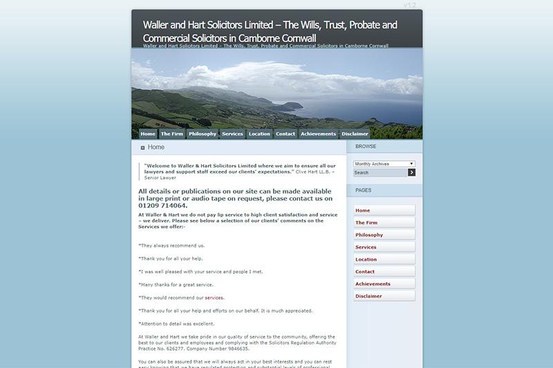 Waller And Hart Solicitors Cornwall