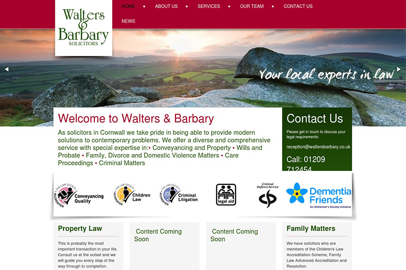 Walters & Barbary Solicitors in Cornwall