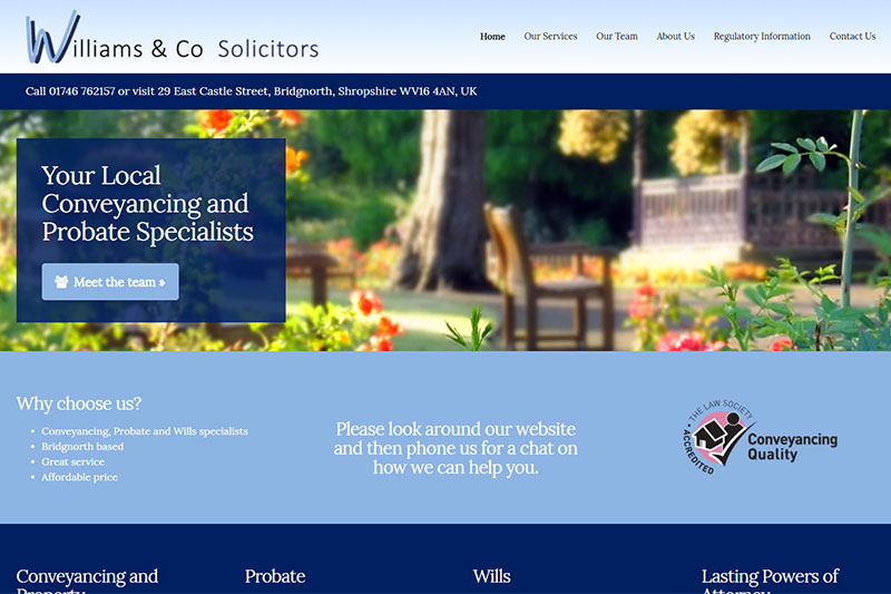 Williams & Co Solicitors Bridgnorth