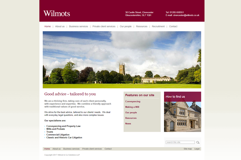 Wilmot & Co Solicitors Cirencester Gloucestershire