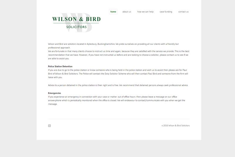 Wilson & Bird Aylesbury Buckinghamshire