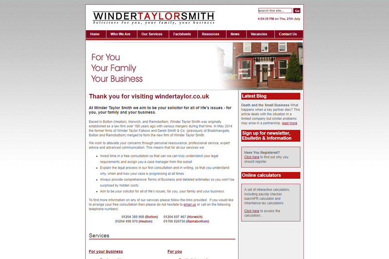 Winder Taylor Fallows Bolton Lancashire