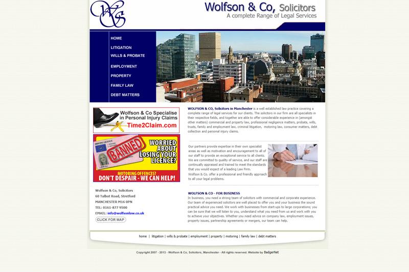 Wolfson & Co Manchester Lancashire