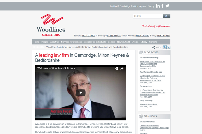 Woodfines Bedford Bedfordshire