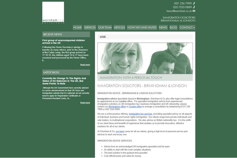 Wornham & Co Solicitors Birmingham West Midlands
