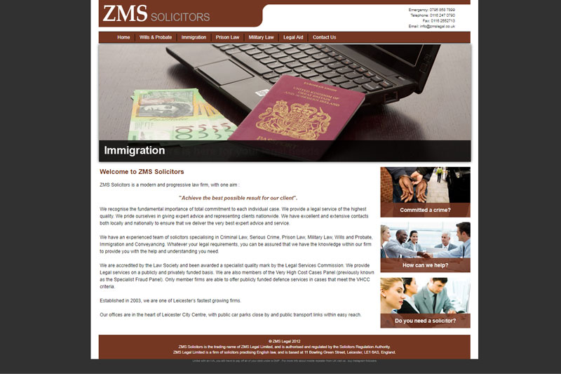 ZMS Legal Leicester Leicestershire