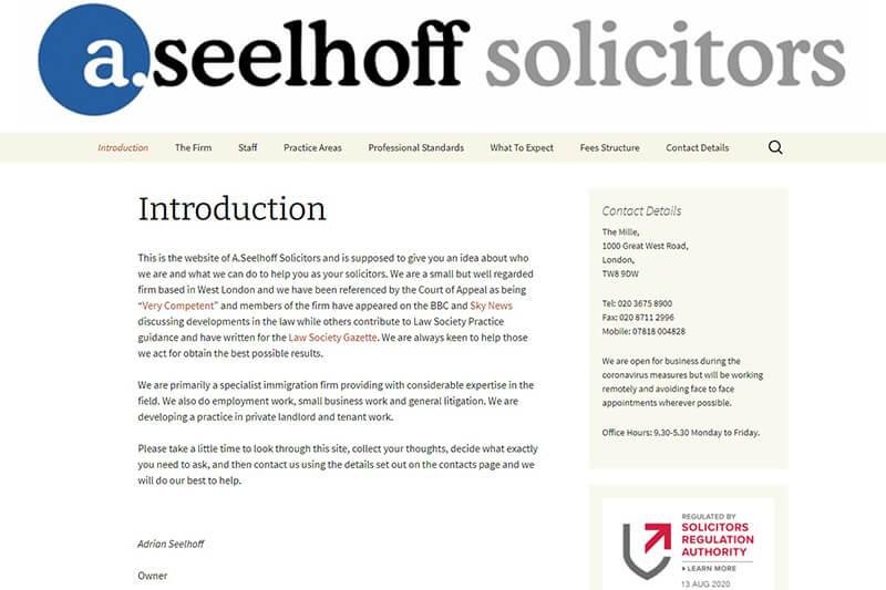 A Seelhoff Solicitors London