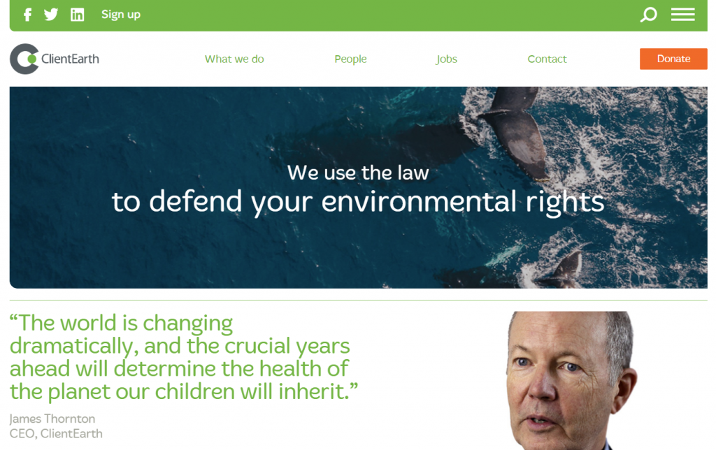 Environmental Lawyers - ClientEarth, UK